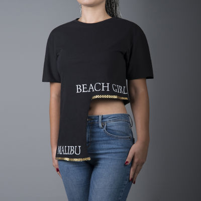 Beach Girl Kadın Siyah T-shirt