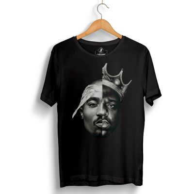 HH - 2pac & Biggie Siyah T-shirt