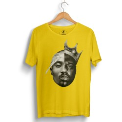 HH - 2pac & Biggie Sarı T-shirt - Thumbnail
