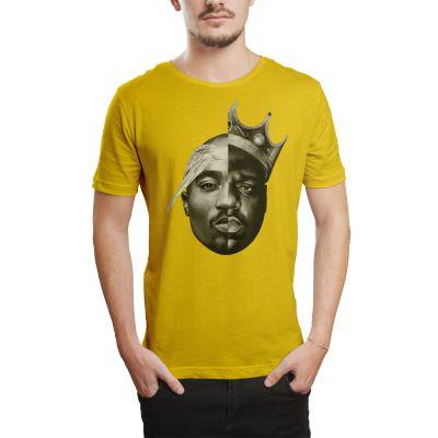HH - 2pac & Biggie Sarı T-shirt
