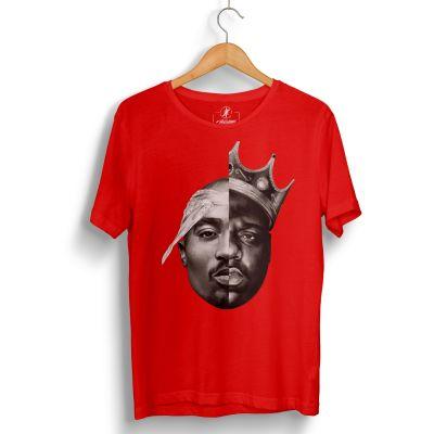 HH - 2pac & Biggie Kırmızı T-shirt