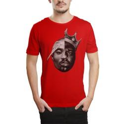 HH - 2pac & Biggie Kırmızı T-shirt - Thumbnail