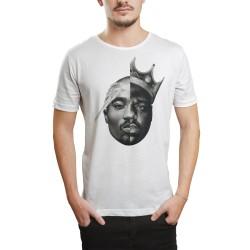 HH - 2pac & Biggie Beyaz T-shirt - Thumbnail