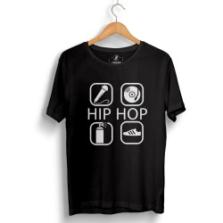 Groove Street - HH - Groove Street 4 icon HipHop Siyah T-shirt