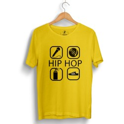 Groove Street - HH - Groove Street 4 icon HipHop Sarı T-shirt