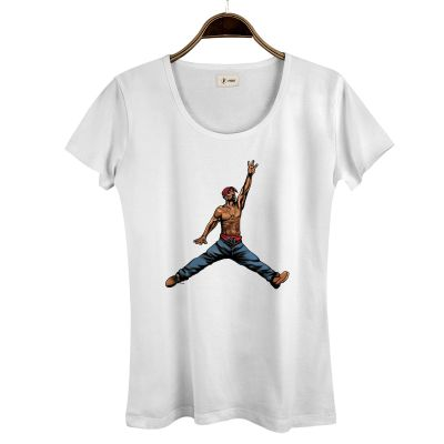 HH - Air Tupac Kadın Beyaz T-shirt
