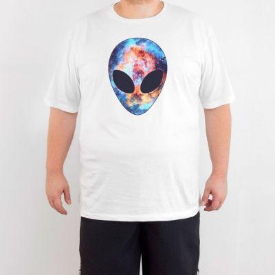 Bant Giyim - Alien Cosmos 4XL Beyaz T-shirt