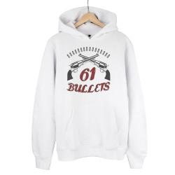 Allame - HH - Allame 61 Bullets Beyaz Hoodie