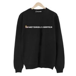 Allame - HH - Allame Da Notorious Rapper Siyah Sweatshirt