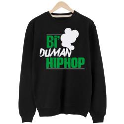Anıl Piyancı - HH - Anıl Piyancı Bi Duman Hiphop Siyah Sweatshirt