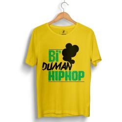Anıl Piyancı - HollyHood - Anıl Piyancı Bi Duman Hiphop Sarı T-shirt