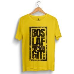 Outlet - HH - Anıl Piyancı Boş Laf Yapma Git Sarı T-shirt (Seçili Ürün)