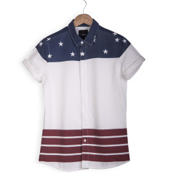 HollyHood - Asos U.S Flag Gömlek
