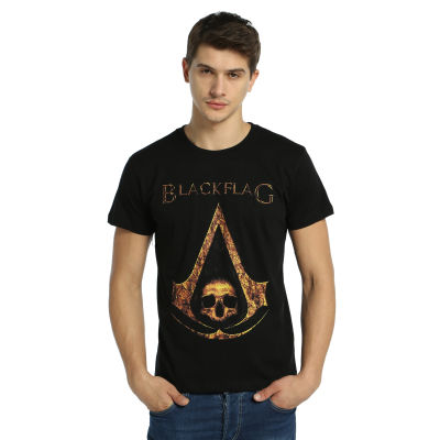 Bant Giyim - Assassin's Creed Black Flag (Style 2) Siyah T-shirt