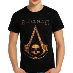 Bant Giyim - Assassin's Creed Black Flag (Style 2) Siyah T-shirt - Thumbnail