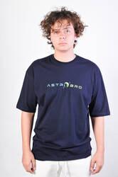HollyHood - ASTROBRO Dj Baskılı Lacivert Oversize Tişört