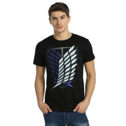 Bant Giyim - Attack On Titan Siyah T-shirt - Thumbnail