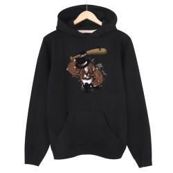 High - HH - Bandit Dog Siyah Hoodie