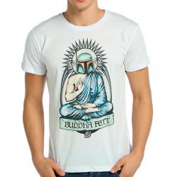 Bant Giyim - Bant Giyim - Star Wars Buddha Fett Boba Fett Beyaz T-shirt