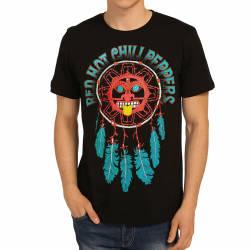 Bant Giyim - Red Hot Chili Peppers Düş Kapanı Siyah T-shirt - Thumbnail