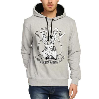 Bant Giyim - Follow White Rabbit Gri Hoodie