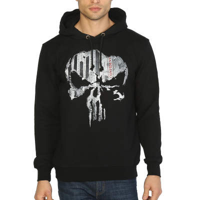 Bant Giyim - The Punisher Siyah Hoodie