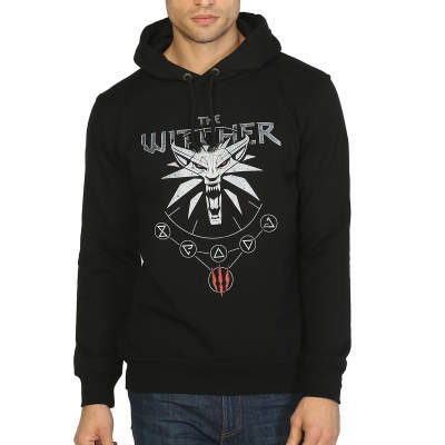 Bant Giyim - Witcher Will Hunt Siyah Hoodie