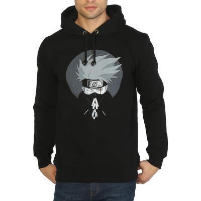 Bant Giyim - Naruto Hatake Kakashi Siyah Hoodie