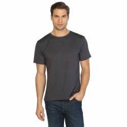 Bant Giyim - Bant Giyim - Antrasit Bisiklet Yaka Likralı Erkek T-shirt