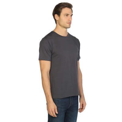 Bant Giyim - Antrasit Bisiklet Yaka Likralı Erkek T-shirt