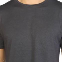 Bant Giyim - Antrasit Bisiklet Yaka Likralı Erkek T-shirt - Thumbnail