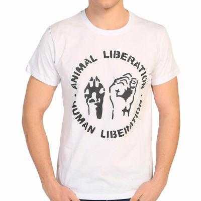 Bant Giyim - Animal Liberation Beyaz T-shirt
