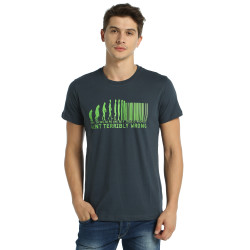 Bant Giyim - Evolution Of Barcode Füme T-shirt - Thumbnail