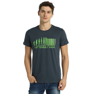 Bant Giyim - Evolution Of Barcode Füme T-shirt