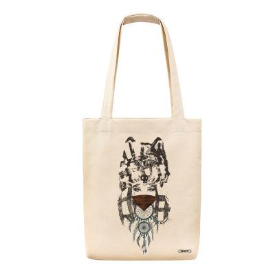 Bant Giyim - Wolf Girl Dreamcatcher Bez Çanta