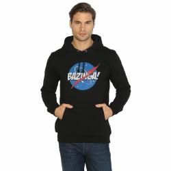 Bant Giyim - Big Bang Theory Bazinga Siyah Hoodie - Thumbnail