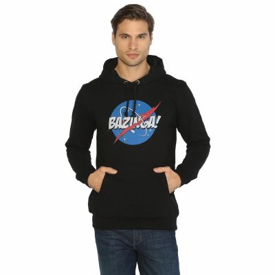 Bant Giyim - Big Bang Theory Bazinga Siyah Hoodie