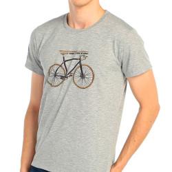 Bant Giyim - Bisiklet Gri T-shirt - Thumbnail