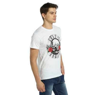 Bant Giyim - Gun's Roses Beyaz T-shirt