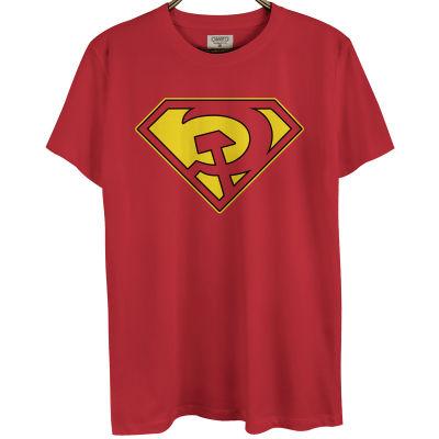 Bant Giyim - Superman Red Son Kırmızı T-shirt