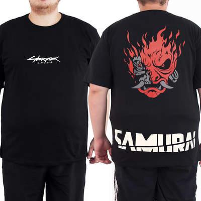 Bant Giyim Cyberpunk 2077 Samurai 4XL Siyah Erkek T-shirt Tişört