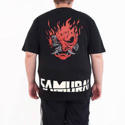 Bant Giyim - Bant Giyim Cyberpunk 2077 Samurai 4XL Siyah Erkek T-shirt Tişört