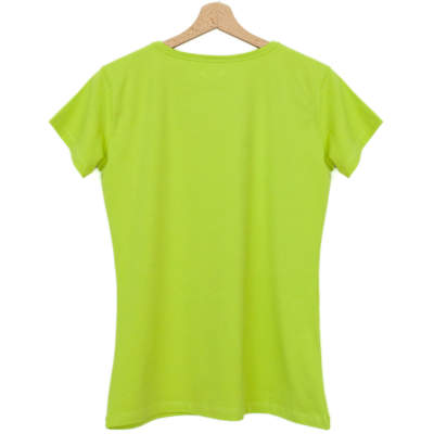 Bant Giyim - Dar Kesim Bisiklet Yaka Yeşil Kadın T-shirt