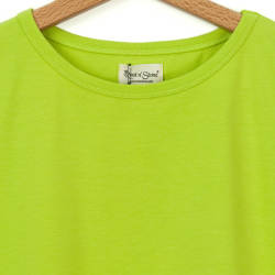 Bant Giyim - Dar Kesim Bisiklet Yaka Kadın Yeşil T-shirt - Thumbnail