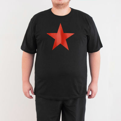 Bant Giyim - Kızılyıldız 4XL Siyah T-shirt