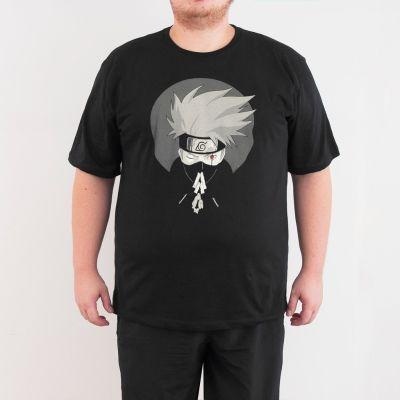 Bant Giyim - Naruto Hateke Kakashi 4XL Siyah T-shirt