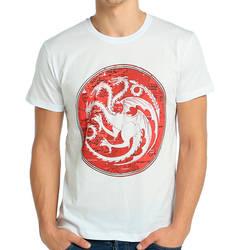Bant Giyim - Bant Giyim - Game Of Thrones Targaryen Beyaz Erkek Tişört