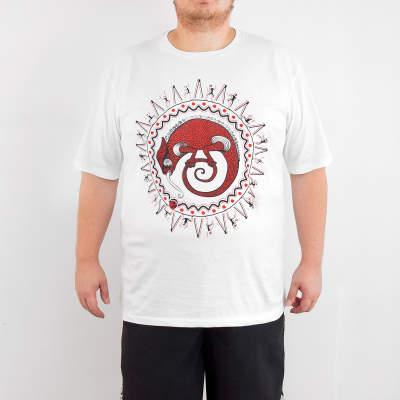 Bant Giyim - Avcının Sevdası Bukalemun 4XL Beyaz T-shirt
