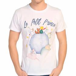 Bant Giyim - Bant Giyim - Küçük Prens Beyaz Erkek T-shirt Tişört