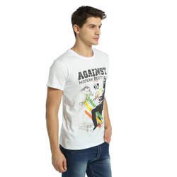 Bant Giyim - Bob Marley Beyaz Erkek T-shirt Tişört - Thumbnail